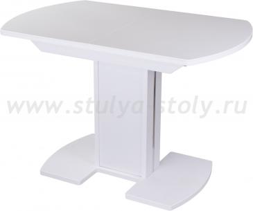 Стол обеденный Альфа ПО-1 КМ 04 (6) БЛ 05-1 ЛДСП БЛ/БЛ КМ 04 (белый)