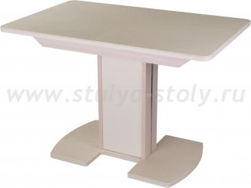 Стол обеденный Альфа ПР-1 КМ 06 (6) МД 05-1 ЛДСП МД/КР КМ 06 молочный дуб