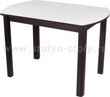 Стол обеденный Чинзано ПО ВН ст-БЛ 04 ВН (белый с венге)