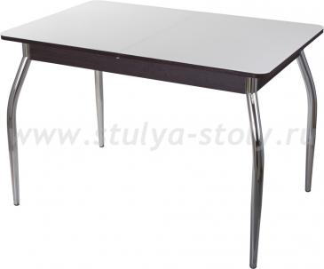 Столы со стеклом Гамма ПР ВН ст-БЛ 01 (белый с венге)