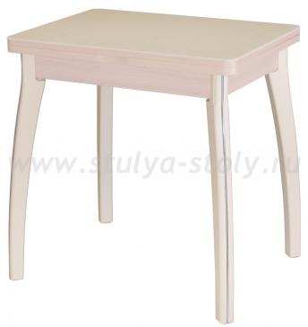 Стол кухонный Реал М-2 КМ 06 (6) МД 07 ВП КР молочный дуб