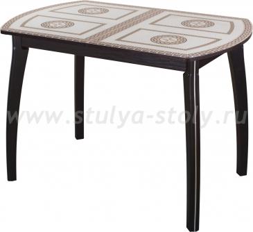 Стол кухонный Гамма ПО ВН ст-71 01 (венге с греческим орнаментом)