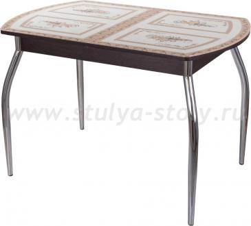 Стол кухонный Гамма ПО ВН ст-72 01 (венге с растительным орнаментом)