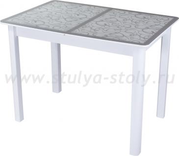 Стол кухонный Гамма ПР-М БЛ ст-2 СР/БЛ 04 БЛ белый
