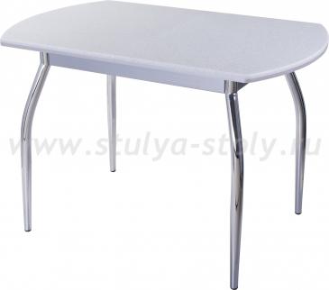 Стол кухонный Реал ПО КМ 07 (6) СР 01 серый