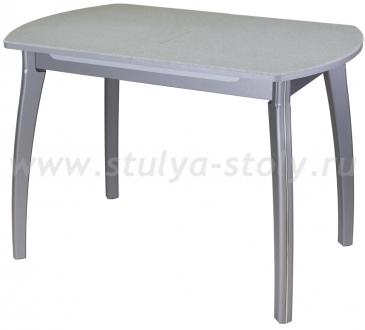 Стол кухонный Реал ПО КМ 07 (6) СР 07 ВП СР серый