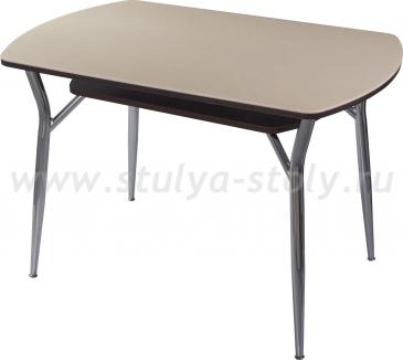 Стол кухонный Реал ПО-2 КМ 06 (6) ВН 06 (венге песочный камень)