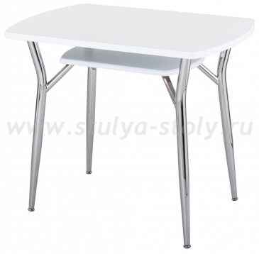 Стол кухонный Реал ПО-3 КМ 04 (6) БЛ 06 белый
