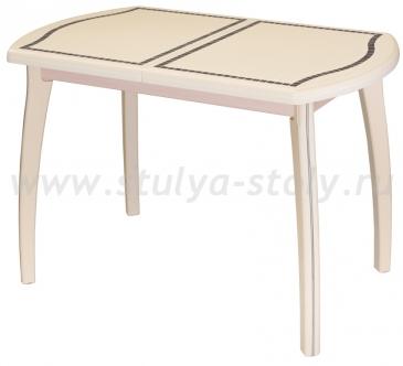Стол кухонный Толедо ПО МЗ 36 ВП КР 07 ВП КР крем