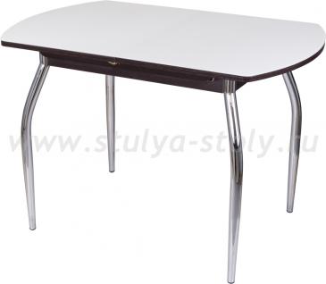 Стол кухонный Чинзано ПО ВН ст-БЛ 01 (белый с венге)