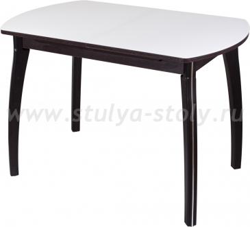 Стол кухонный Чинзано ПО ВН ст-БЛ 07ВН (белый с венге)