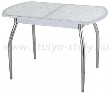 Стол кухонный Чинзано ПО СР ст-2 СР/БЛ 01 серый