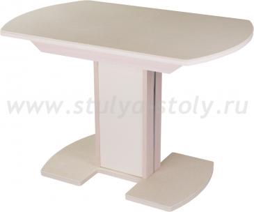 Стол кухонный Альфа ПО КМ 06 (6) МД 05 МД/КР молочный дуб