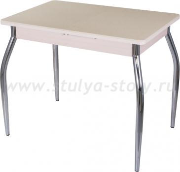 Стол кухонный Альфа ПР-М КМ 06 (6) МД 01 молочный дуб