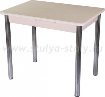 Стол кухонный Альфа ПР-М КМ 06 (6) МД 02 молочный дуб