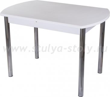 Стол обеденный Альфа ПО-1 КМ 04 (6) БЛ 02 белый