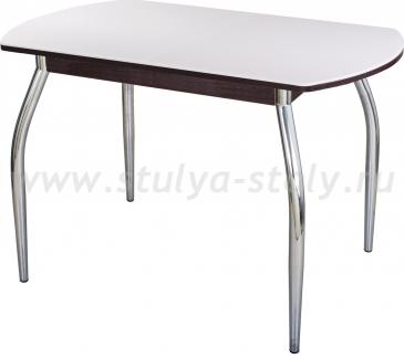 Стол обеденный Альфа ПО-1 КМ 04 (6) ВН 01 венге белый камень