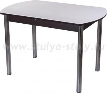 Стол обеденный Альфа ПО-1 КМ 04 (6) ВН 02 венге белый камень