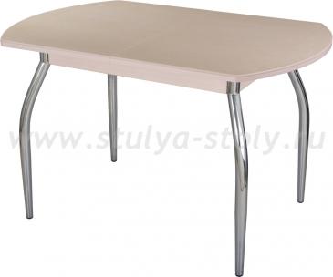 Стол обеденный Альфа ПО-1 КМ 06 (6) МД 01 молочный дуб песочный камень