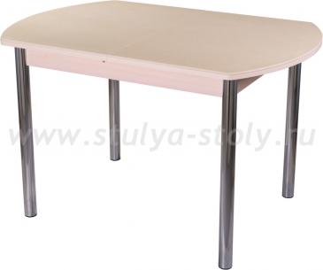 Стол обеденный Альфа ПО-1 КМ 06 (6) МД 02 молочный дуб песочный камень