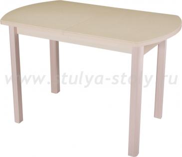 Стол обеденный Альфа ПО-1 КМ 06 (6) МД 04 МД молочный дуб песочный камень