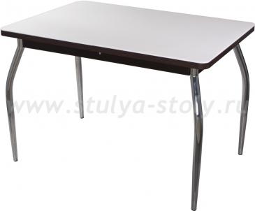 Стол обеденный Альфа ПР-1 КМ 04 (6) ВН 01 венге ножки хром
