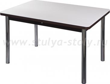 Стол обеденный Альфа ПР-1 КМ 04 (6) ВН 02 венге ножки хром прямые
