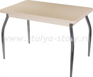 Стол обеденный Альфа ПР-1 КМ 06 (6) МД 01 венге ножки хром