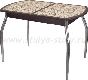 Стол обеденный Гамма ПО-1 ВН ст-2 ВН/КР 01 (венге с узором)