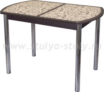 Стол обеденный Гамма ПО-1 ВН ст-2 ВН/КР 02 (венге с узором)