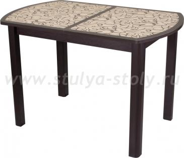 Стол обеденный Гамма ПО-1 ВН ст-2 ВН/КР 04ВН (венге с узором)