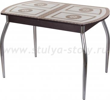 Стол обеденный Гамма ПО-1 ВН ст-71 01 (венге с греческим орнаментом)