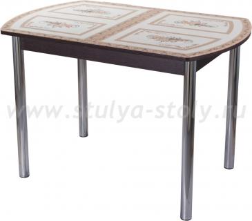 Стол обеденный Гамма ПО-1 ВН ст-72 02 (венге с растительным орнаментом)