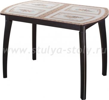 Стол обеденный Гамма ПО-1 ВН ст-72 07ВН (венге с растительным орнаментом)