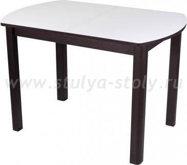 Стол обеденный Гамма ПО-1 ВН ст-БЛ 04ВН (белый с венге)