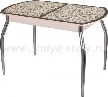 Стол обеденный Гамма ПО-1 МД ст-2 ВН/КР 01 (венге с узором)