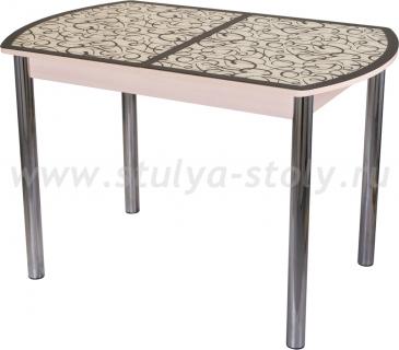 Стол обеденный Гамма ПО-1 МД ст-2 ВН/КР 02 (венге с узором)