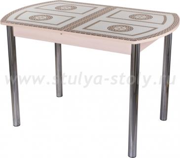 Стол обеденный Гамма ПО-1 МД ст-71 02 (молочный дуб с греческим орнаментом)