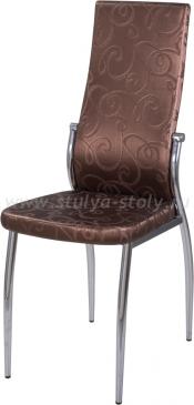 Стул кухонный Милано Д-4/Д-4 коричневый (темная бронза) с узором, повышенной комфортности