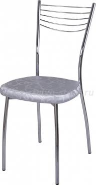 Стул кухонный Омега-1 D-1/D-1 серебристый с узором, повышенной комфортности