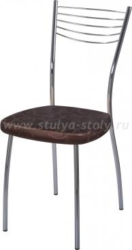 Стул кухонный Омега-1 D-4/D-4 коричневый (темная бронза) с узором, повышенной комфортности