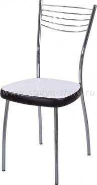 Стул кухонный Омега-1 В-0/В-4 искрящийся белый/черный венге, повышенной комфортности