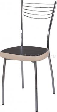 Стул кухонный Омега-1 В-4/В-1 черный венге/бежевый, повышенной комфортности