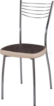Стул кухонный Омега-1 Д-4/В-1 коричневый (темная бронза) с узором/бежевый, повышенной комфортности