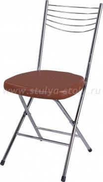 Стул кухонный Омега-1 скл. В-3/В-3 коричневый, повышенной комфортности