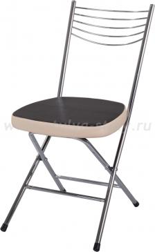 Стул кухонный Омега-1 скл. В-4/В-1 черный венге/бежевый, повышенной комфортности