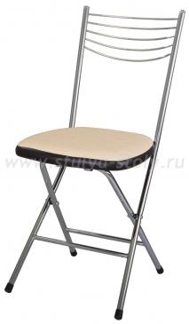 Стул кухонный Омега-1 скл. Д-2/В-4 светло бежевый/венге, повышенной комфортности