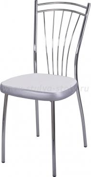 Стул кухонный Омега-2 F-0/С-1 белый с плетеной текстурой/серый