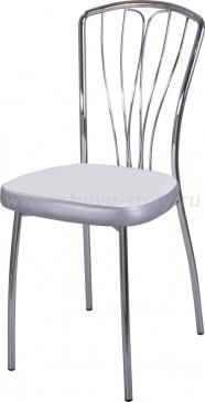 Стул кухонный Омега-3 F-0/С-1 белый с плетеной текстурой/серый