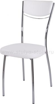 Стул кухонный Омега-4 F-0/F-0 спF-0/F-0 белый с плетеной текстурой, повышенной комфортности